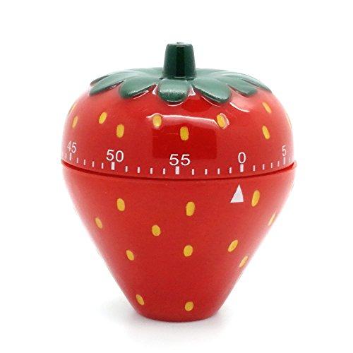 Eieruhr Kurzzeitmesser Wecker Küchentimer Küchenuhr Schaltuhr Timer Kochhilfe Erdbeere