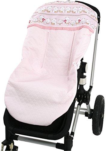 Colchoneta silla Universal -Tejido Pique- Danielstore .Serie Osito .Color (rosa)