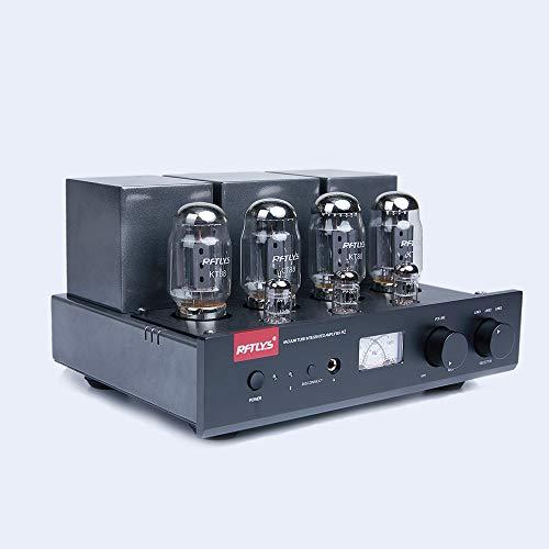 RFTLYS - A2 - KT88 - 真空管 プリメイン アンプ と イヤホン アンプ Bluetooth ステレオ (黒)