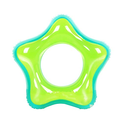 gzadq pool inflatable ringStar swimming ring 35-inch outdoor beach inflatable rubber inner tube summer adult and children water toy green