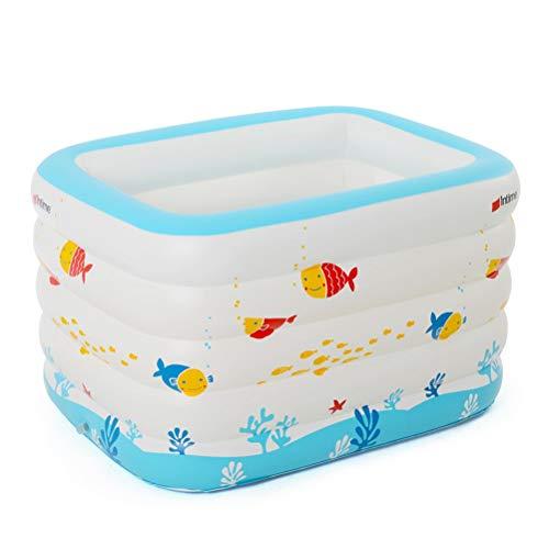 NIVNI Piscina inflable, Piscina inflable de PVC para niños engrosada piscina de bebé inflable cubo de baño