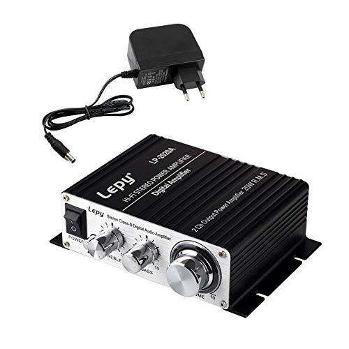 RUIZHI LEPY LP2020A Digital-Audio-Verstärker HiFi (2X 20 Watt) Stereo Design Verstärker für MP3/Handy/DAC schwarz mit Überstromschutz