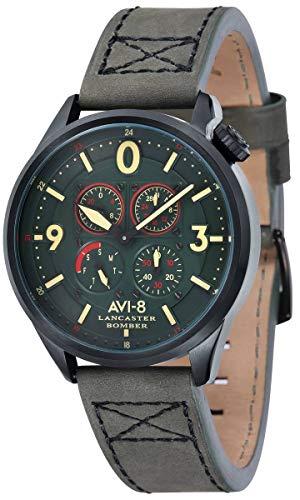 AVI-8 Lancaster Bomber - Reloj para Hombre, Color Verde y Verde