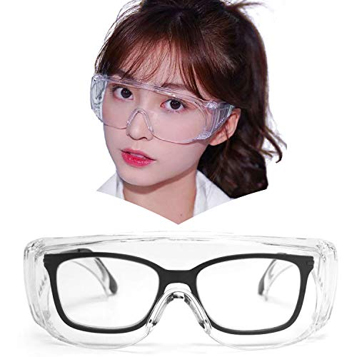 JIMMY ORANGE ゴーグル メガネ 保護眼鏡の上から掛けれるゴーグル 曇り止める ウイルス・菌 飛沫 花粉 眼鏡 BYC