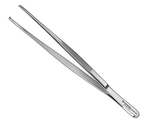 Ustomed Instrumente 08-231-145 Chir. Pinzette, Gerade, 1x2 Zähne, Fein, 14.5 cm