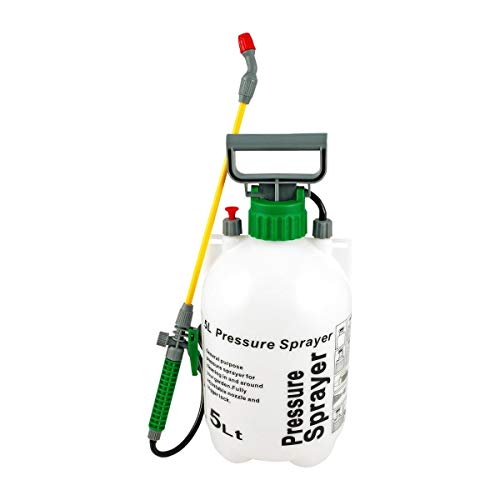 Garden Multi Purpose Pressure Sprayer Car Fence Sprayer Cleaner Garden Weeding Ideal with Weed killer, Pesticides, Herbicides, Insecticides, Fungicides - Water Pump Sprayer (5 Litre)