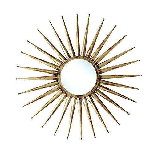 Miroirs Miroir Mural Miroir Mural Miroir Rond En Fer Forgé Véranda Salle De Bain Miroir Rond Miroir De Miroir De Chambre À Coucher Miroir De Salon Mur De Véranda De Salon