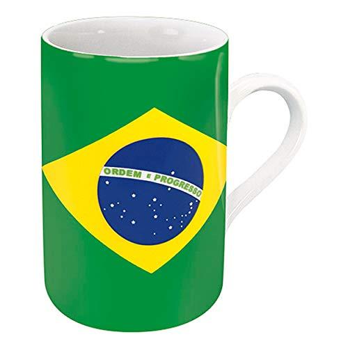 Könitz Flaggenbecher Brasilien, Becher, Tasse, Kaffeetasse, Porzellan, Brasilianische Flagge, 310 ml, 11 1 003 0985