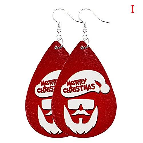 XAOQW 54 Pendientes de espárragos Hombre y Mujer Tornillo Campanas de árbol de Navidad Pendientes de joyería de Vacaciones regalos-N42