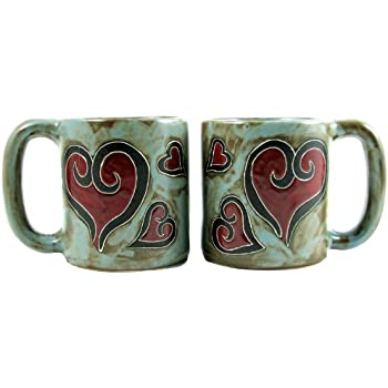 MARA STONEWARE COLLECTION 16 Ounce Coffee Cup Collectible Dinner Mug 1 Pine Trees Design One