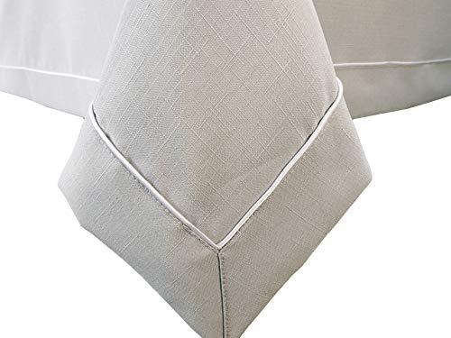 Modern Design Tischdecke Fleckgeschützte Tafeltuch Tischtuch Fleckenabweisende - Viele Farben Variante - Große 140X140 Moon