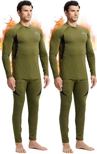 romision Thermal Underwear for Men Fleece Base Layer Top Bottom Set Insulated Long Johns for product image