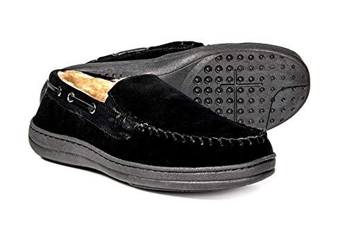 Rockport Memory Foam Plush Lining Suede Slip On Moccasin Indoor/Outdoor Men's Slippers 12 tan