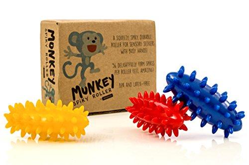 Spiky Sensory Rollers (Pack of 3) - Unbreakable Fidget Toys / Sensory Toy - BPA / Phthalate / Latex-Free - Perfect Monkey Fidgets - by Impresa
