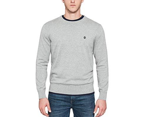 Timberland Williams River Crew suéter, Gris (Medium Grey Heather 052), XX-Large para Hombre