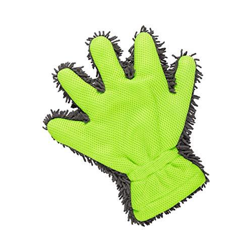 TRI Power-Putzhandschuh, Waschhandschuh, Reinigungshandschuh, Putzlappen, Waschlappen, Mikrofaser, grün, Polyester, 30 x 26,5 x 3cm