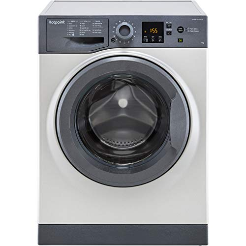 Hotpoint NSWM843CGGUK 8Kg Washing Machine with 1400 rpm - Graphite - A+++ Rated