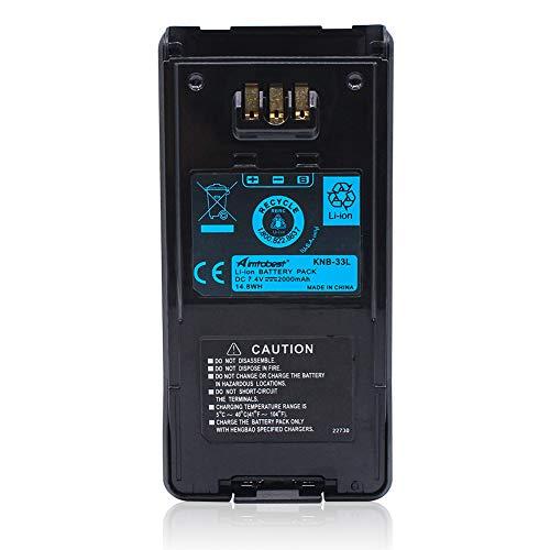 KNB-33L 2000mAh Li-ion Battery Compatible for Kenwood Radio TK-2180 TK-3180 TK2180 TK3180 TK-5210 TK-5310 TK-5410 TK5210 TK5310 TK5410 NX-410 NX-411