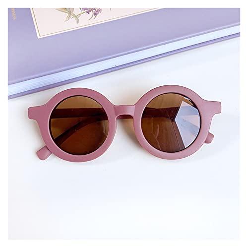 MINGQIMY Gafas de Sol NUEVOS NIÑOS Colores Forma de Leopardo Moda Redondo Gafas de Sol Chicas Chicas Vintage Gafas de Sol UV Protección Classic Kids Gafas