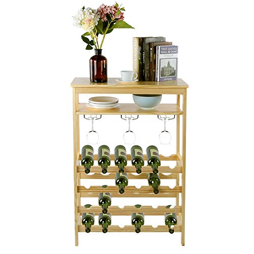 AYNEFY Wine Rack, 6‑Layer Free Standing 24‑Bottle Wine...