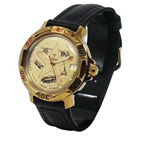 Cucuba® Reloj DE Pulsera KOMANDIRSKIE Movimiento MECÁNICO Soviet Rusia 17 RUBÍES – Idea DE Regalo (037)