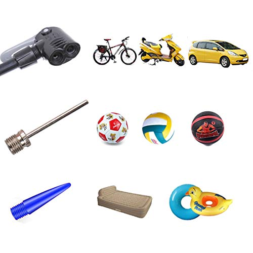Bike Foot Pump with Gauge Bicycle Tire Air Pump 160 PSI Presta Schrader Valve Inflator Pump for Road Mountain Bikes Motorcycle Balls
