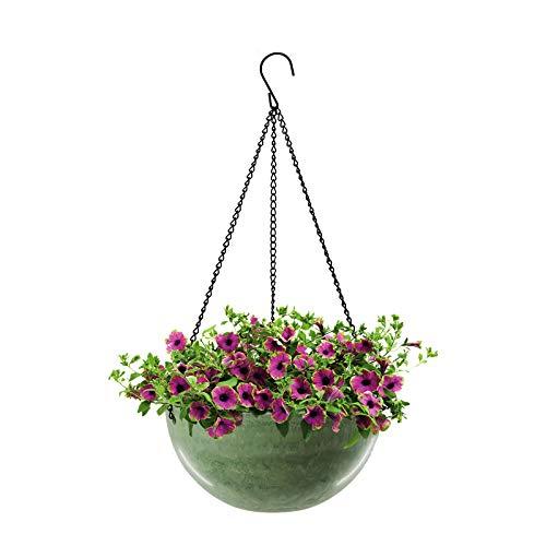 Blumenampel ,Hängende Pflanzgefäße Smaragdgrün, Blumentöpfe Decke hängender Übertopf Ideal für Zimmerpflanzen Sukkulenten Luftpflanzen Kakteen (1 Pcs)