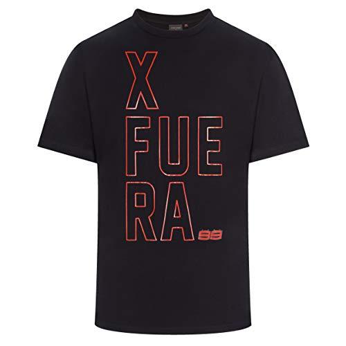 Jorge Lorenzo 2019 99 XFUERA - Camiseta para Hombre, Color Negro, Negro,...