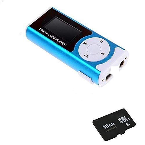 Frocel Digital MP3 Player with LCD Display with Memory Card/TF Slot (Digital MP3 Player with (16GB SD Memory Card)