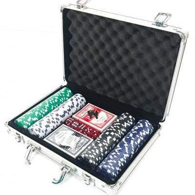 Maleta de Poker 200 Fichas Oficiais Kit Completo