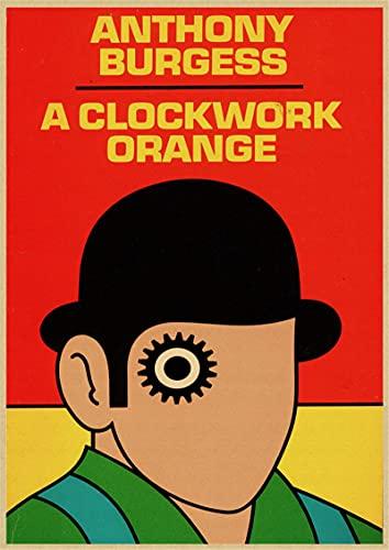 Película Clásica Un Reloj Naranja Póster Decoración para El Hogar Artesanía Diseño De Carteles De Películas Lienzo De Alta Definición Pintura Decorativa 50X70 Cm (19.68X27.55 In) U-150