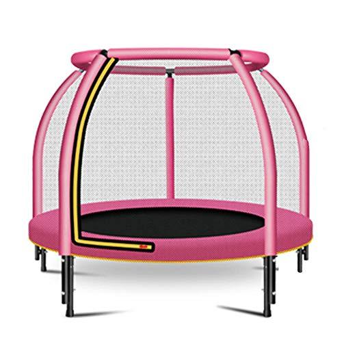 JKHK 48 Pulgadas de Interior pequeño trampolín for los niños de los niños Ultra silencioso Mini Bebé Trampolín,Trampolín de los niños, Red de Seguridad y la Cubierta del Borde Interior Kid trampolín