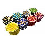Monte Carlo Poker Chips, Ceramics Gambling Chips Monaco Casino with Denominations, Custom Poker Chips Set for Texas Holdem Blackjack 10g Casino Grade Chips