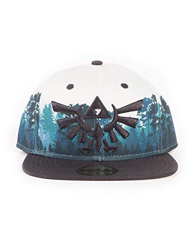 The Legend of Zelda Embroidered Hyrule Green Forrest Sublimation Snapback Baseball Cap Gorra de béisbol, Multicolor (Multicolour Multicolour), Talla Única Unisex Adulto