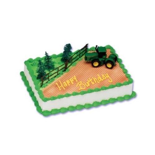 Amazon Com John Deere Cake Topper Decorating Kit By Bakery Crafts