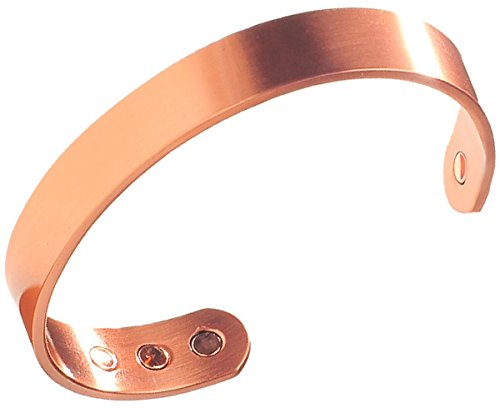 Earth Therapy Men's Pure Copper Magnetic Healing Golf Bracelet for Sport Injury Recovery, Arthritis, and Joint Pain Relief - Adjustable Sizing - Sourced