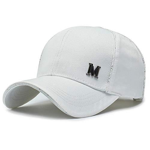 JJROUXIYUJIN - Gorra de béisbol para Deportes al Aire Libre, Transpirable, con Remaches, para Hombre Blanco Blanco (Cocina)