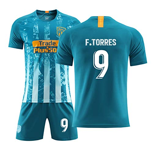# 7 Griezmann Auswärtstrikot 19-20# 9 F. Torres Fußball Uniform Set, Nationalmannschaft Kurzarm Shorts Training Wettkampfanzug für Herren Kind Geschenk 1coat Shorts
