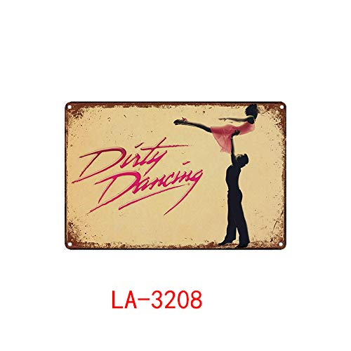 Dirty Dancing Posters Metal Poster Plaque Metal Vintage Classic Movie Metal Tin Sign Wall Decor For Bar Iron Painting 20x30cm Chocolate