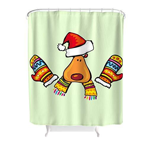 ANVPI douchegordijnen leven Kerstmis Halloween bedrukt schimmel Resistent Kerstmis gordijn badkuipgordijn in levendige kleuren