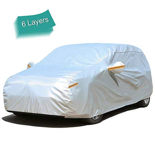 GUNHYI SUV Car Cover Waterproof All Weather for Automobiles, 6 Layer Heavy Duty Outdoor Cover, Sun...