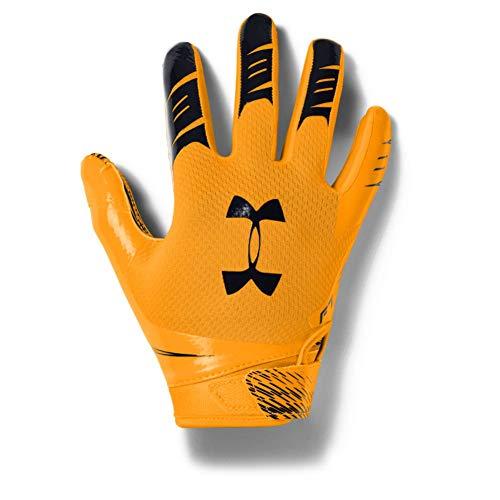 Under Armour Boys' F7 Youth Football Gloves , Steeltown Gold (750)/Black , Youth Medium