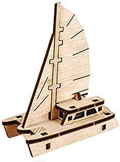 Desktop Wooden Model Kit Run! Catamaran sailboat / YG861-24 by YOUNGMODELER