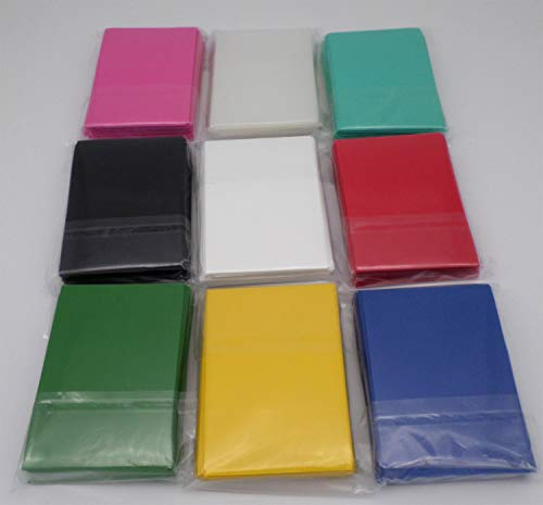 docsmagic.de 9 x 60 Double Mat Card Sleeves Small Size 62 x 89 - Black Blue Green Red White Yellow Pink Mint Clear - YGO - Mini Pochettes
