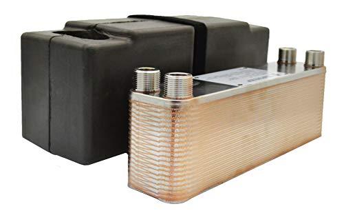 """Edelstahl Plattenwärmetauscher Wärmetauscher mit Isolierung Nordic Tec Ba-23-40 40 Platten 165kW 3/4"""""""