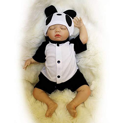 Nicery Reborn Baby Puppe aus Weichem Silikon-Vinyl, 40–45 cm, magnetischer Mund, lebensecht und lebensecht