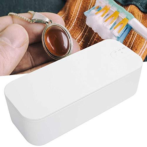 Limpiador ultrasónico para anteojos, limpiador ultrasónico eficaz, seguro y fácil de usar para limpiar joyas para limpiar dentaduras postizas(Transl)