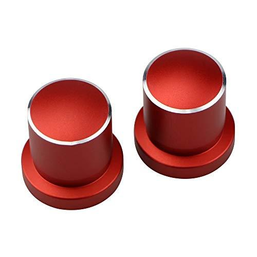 L-Yune, Bolzen Auto stoßdämpfer schraubverschluss wellenabdeckung Fall for Nissan sylphy x-Trail t32 Altima Qashqai j11 teana aluminiumlegierung zubehör (Color : Red)