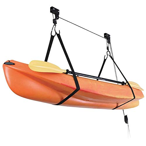 Onefeng Sports Bike Ceiling Lift Hoist Kayak Canoe Hoist for Storage Garage (Black)