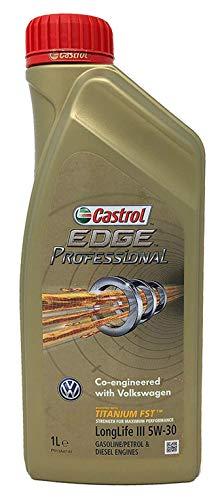 Castrol EDGE Professional Longlife III 5W30 - Olio per Auto, Lubrificante a Lunga Durata Titanium 5W-30 1 Litro